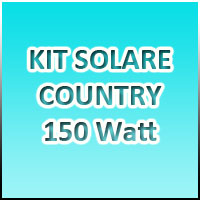 KIT COUNTRY 1 - 150Watt 220Volt - Banco batterie 150Ah/12Volt