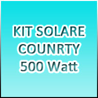 KIT COUNTRY 3 - 500Watt 220Volt - Banco batterie 270Ah/24Volt