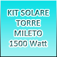 KIT TORRE MILETO MAX AGM 1,5kW 220V - Battery pack 300Ah/24V